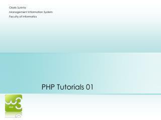 PHP Tutorials 01