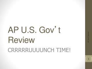 AP U.S. Gov ' t Review