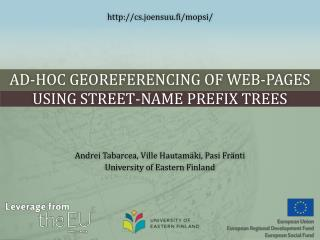 Ad-hoc  Georeferencing  of Web-pages Using Street-name Prefix Trees