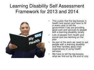 Learning Disability Self Assessment Framework for 2013 and 2014