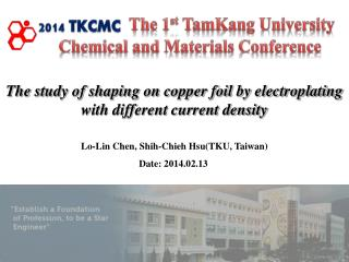 The study of shaping on copper foil by electroplating with different current density