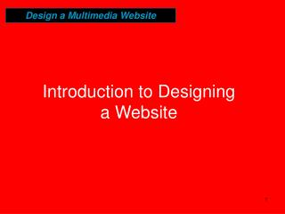 Introduction to Designing a Website