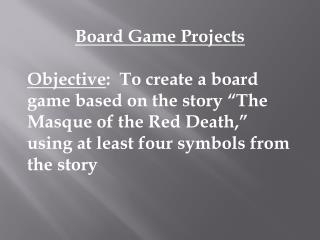 Board Game Projects