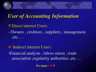 User of Accounting Information