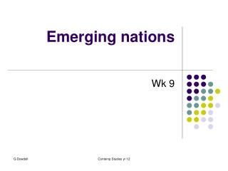 Emerging nations