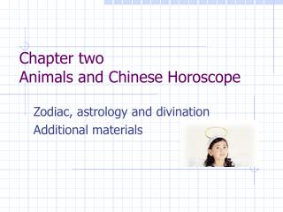 Chapter two Animals and Chinese Horoscope