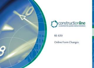 RE-830 Online Form Changes