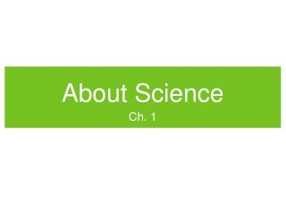 About Science