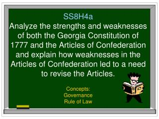 Concepts: Governance Rule of Law