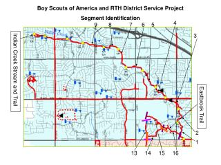Boy Scouts of America and RTH District Service Project Segment Identification