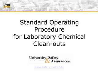 Standard Operating Procedure  for Laboratory Chemical Clean-outs