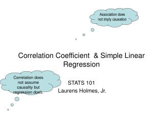 Correlation Coefficient  & Simple Linear  Regression