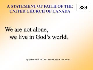 A Statement of Faith of the United Church of Canada