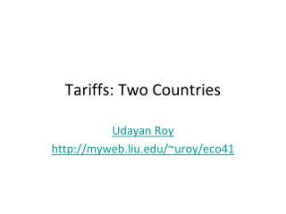 Tariffs: Two Countries