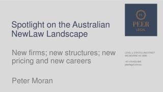 Spotlight on the Australian NewLaw Landscape