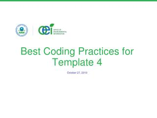 Best Coding Practices for Template 4