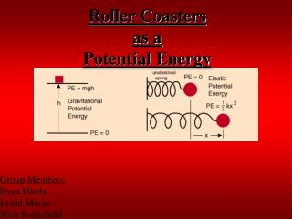 Roller Coasters as a Potential Energy