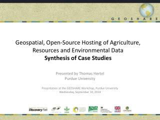 Presented by Thomas Hertel Purdue University