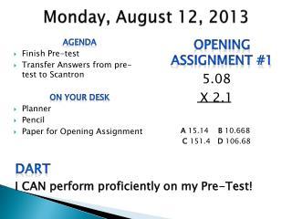 Monday, August 12, 2013