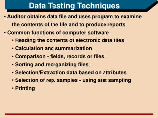 Data Testing Techniques