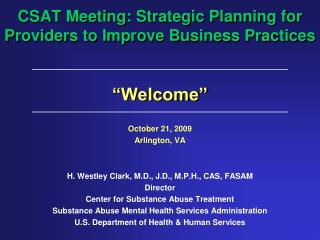 CSAT Meeting: Strategic Planning for Providers to Improve Business  Practices