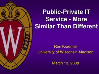 Public-Private IT Service - More Similar Than Different