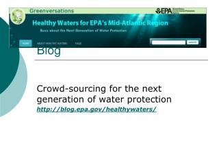Mid Atlantic Healthy Waters Blog