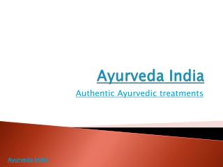 Ayurveda India- Poomylly Mana for Ayurveda