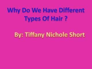 Why Do We Have Different Types Of Hair ?