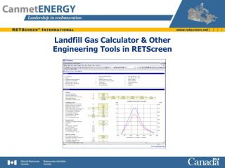 Landfill Gas Calculator & Other Engineering Tools in RETScreen