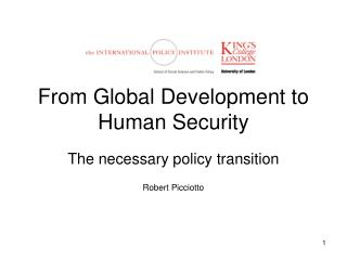 From Global Development to Human Security