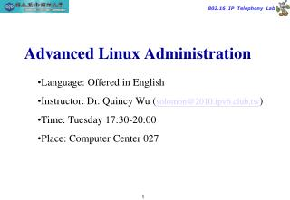 Advanced Linux Administration