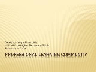 Professional Learning Community