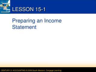 LESSON 15-1