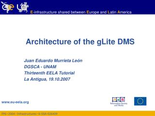 Architecture of the gLite DMS