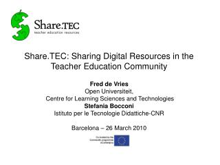 Share.TEC: Sharing Digital Resources in the Teacher Education Community