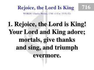 Rejoice, the Lord Is King (1)
