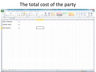 The total cost  o f the party