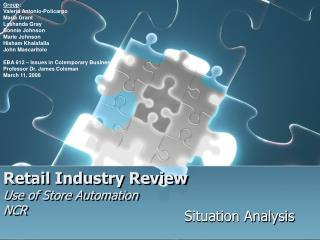 Retail Industry Review Use of Store Automation NCR