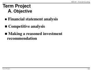 Term Project A . Objective