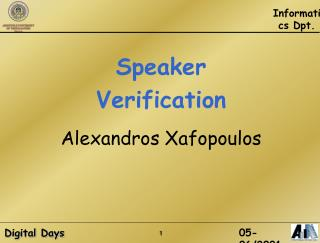 Speaker Verification