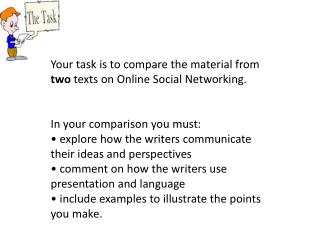 Your task is to compare the material from  two  texts on Online Social Networking.