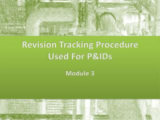 Revision Tracking Procedure Used For P&IDs