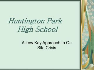 Huntington Park  High School