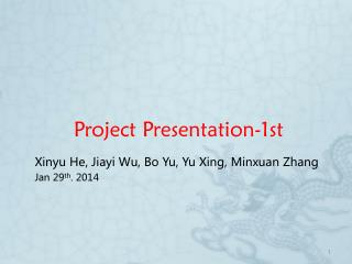 Project Presentation-1st