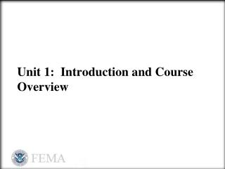 Unit 1:  Introduction and Course Overview