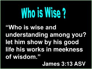 Who is Wise ?