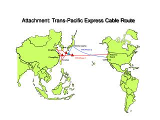 Attachment: Trans-Pacific Express Cable Route