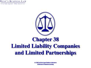 Chapter 38   Limited Liability Companies and Limited Partnerships