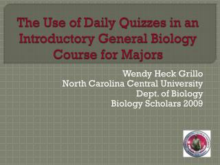 The Use of Daily Quizzes in an Introductory General Biology Course for Majors